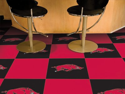 "Arkansas Razorbacks 18""x18"" tiles Carpet Tiles Set of 20 Carpet Tiles at Amazon.com"