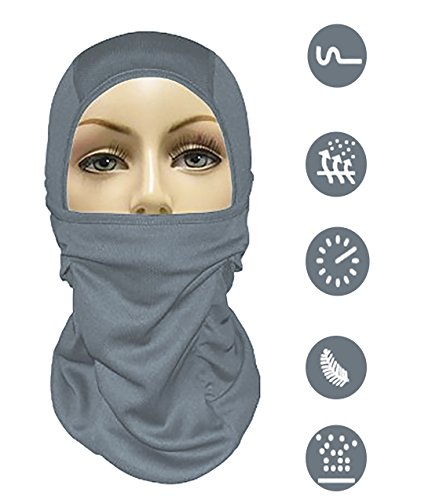 Balaclava Ski Mask Full Face Motorcycle Mask Neck Gaiter or Tactical Balaclava Hood. Best Cold Weather Running Gear for Men Women & Kids, Black (Warm Weather Running Gear compare prices)