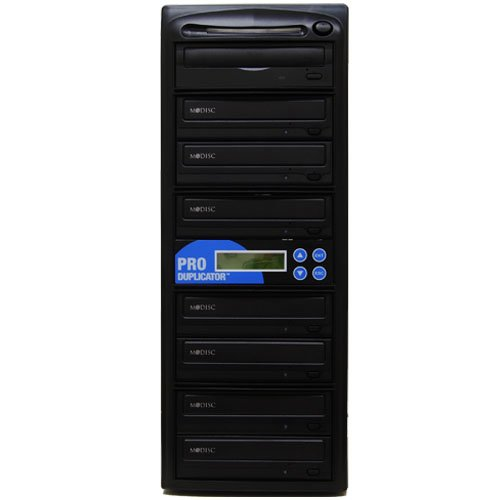 Produplicator 1 To 7 24X M-Disc Support Cd Dvd Duplicators + Free Nero Software - ($20 Value) Copier Multiple Standalone Tower
