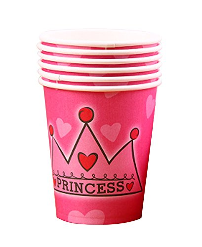 10 Pcs Princesse Coupe papier Parti Coupes de boissons