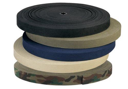 "Rothco Cotton Belt Webbing, 1-1/4"" x 50 yd, Black"