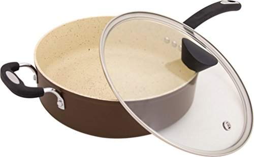 The Stone Earth All-In-One Sauce Pan by Ozeri, with 100% APEO & PFOA-Free Stone-Derived Non-Stick Coating from Germany (Earth Pots And Pans compare prices)