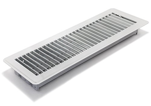 Accord ABFRWH414 Floor Register with Louvered Design, 4-Inch x 14-Inch(Duct Opening Measurements), White (Angled Floor Vents compare prices)