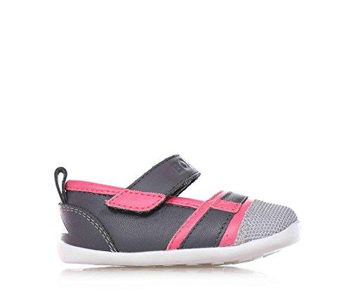 BOBUX - Ballerina grigio/rosa, scarpa, in pelle traspirante, flessibile, chiusura a strappo, materiali non tossici, Bambina-18