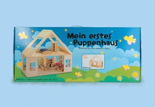 Holz Steck-Puppenhaus ohne Zubehör