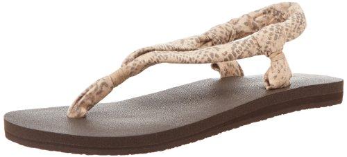 Sanuk Women'S Yoga Slingshot Prints Flip Flop,Natural Snake,6 M Us
