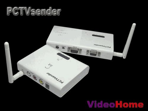 PC/TV Sender Receiver Computer PC VGA to NTSC TV Composite Video Wireless Converter
