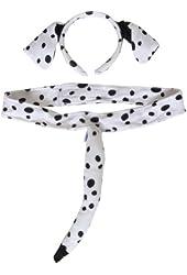 Dalmation Headband and Tail Costume Set