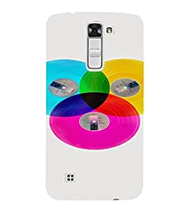 PrintVisa Colorful Records Design 3D Hard Polycarbonate Designer Back Case Cover for LG K10