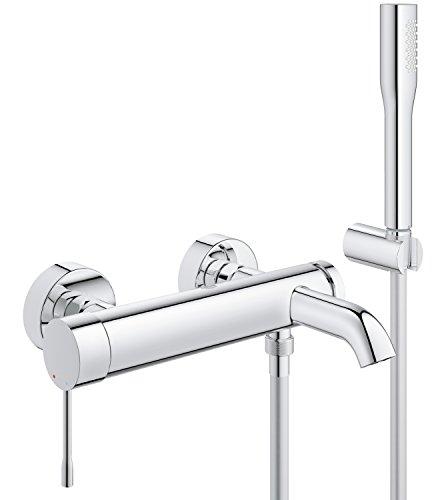 Aufputz Armatur Dusche Grohe : GROHE Essence Wannenarmatur mit Brausegarnitur f?r die Wandmontage