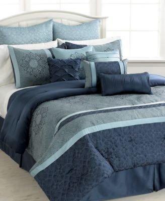 Sunham, Ambrosia 12 Piece King Comforter Set Bedding front-316920