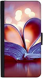 Snoogg Bookmark Love Heart Graphic Snap On Hard Back Leather + Pc Flip Cover ...