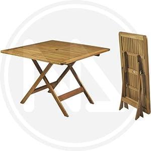 Tavoli tavolo quadrato pieghevole da giardino in legno for Tavoli amazon