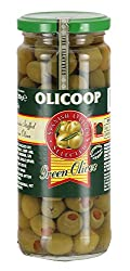 Olicoop Green Stuffed Olives, 450g