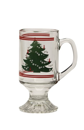 Waechtersbach Christmas Tree Footed Mug, Set of 4