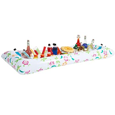 Tropical Style Inflatable Buffet & Salad Bar Ice Tray Cooler Portable