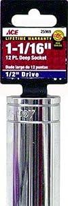 Ace 1/2 Drive 6 Point Deepwell Socket (25969)