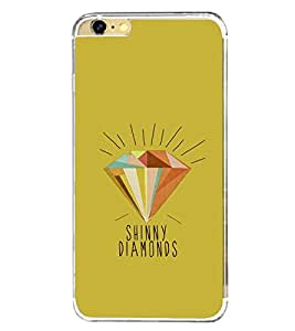 Diamond Clipart 2D Hard Polycarbonate Designer Back Case Cover for Apple iPhone 6