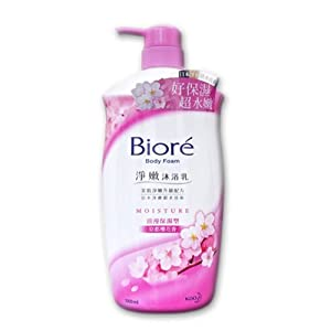Biore Body Foam Moisture Cherry Blossom - 1000ml