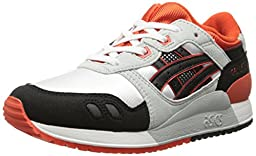 ASICS Tiger Gel Lyte III PS Retro Running Shoe (Toddler/Little Kid), White/Black, 13 M US Little Kid