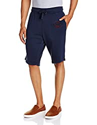Basics Men's Cotton Shorts (8907054580217_14BKS31895_Navy_34)