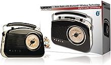 König HAV-TR800BL Portátil Negro - Radio (Portátil, AM, FM, 3,5 mm, C, UM-2, Corriente alterna, Batería)