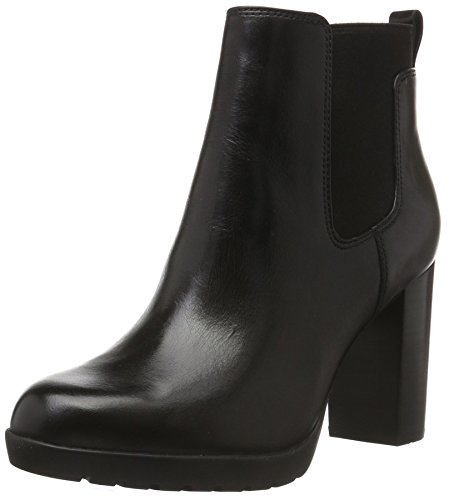 Clarks Elipsa Dee, Stivaletti Donna, Nero (Black Leather), 41 EU