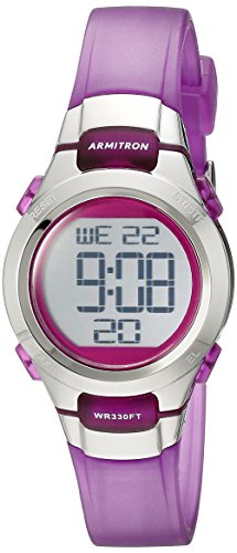 Armitron Sport Women's 45/7012TPR Purple Digital Watch