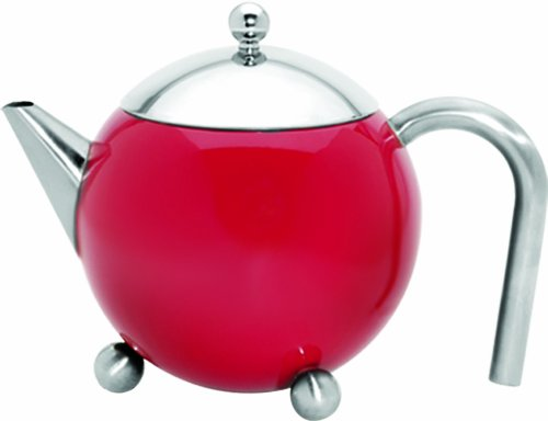 G&H Tea Services Painted Lady 27-Ounceteapot, Red