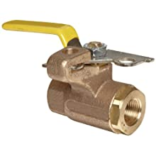 Apollo 75-100 Series Bronze Ball Valve, Two Piece, Inline, Lockable Lever, NPT Female