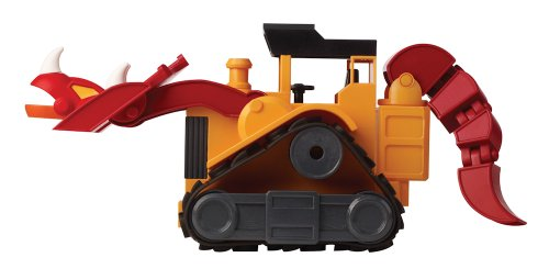 EDUCATIONAL INSIGHTS DINO CONSTRUCTION COMPANY - T-TOP THE TRICERATOPS BULLDOZER