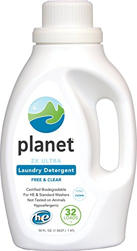 Planet 2X Ultra Laundry Detergent, Unscented, 50 Fluid Ounce