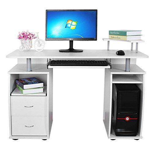 Ikea Kallax High Gloss White ~ Songmics Schreibtisch Brotisch XXL MDF Computertisch mit