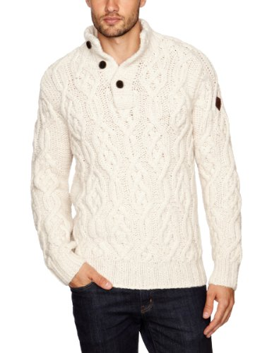Timberland Merino Men's Jumper Ecru Heather X-Large