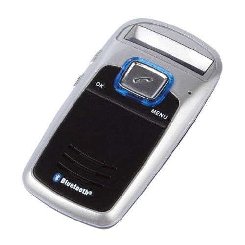 Sainsonic Fm-34 Handsfree Solar Powered Bluetooth Handsfree Car Kit With Fm Radio, Caller Id, Mp3 Player