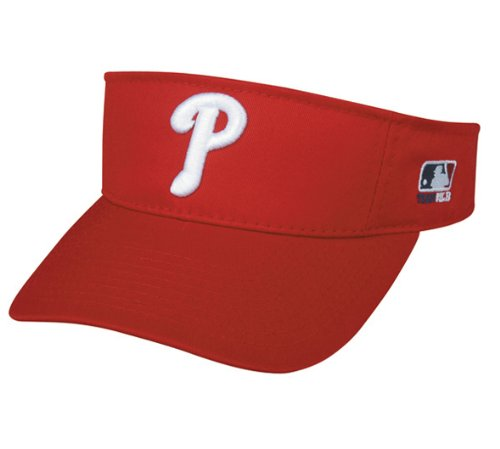 MLB ADULT Philadelphia PHILLIES Home RED VISOR Adjustable Velcro TWILL at Amazon.com