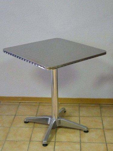 Bistrotisch-eckig-60x60cm-Aluminium-Edelstahl