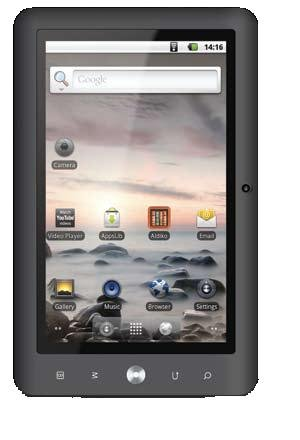 Coby Kyros 7-Inch Android 2.3 4 GB Internet Touchscreen Tablet with Stylus MID7120-4G (Black)