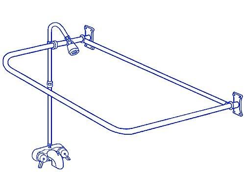 Clawfoot Tub Add-On-Shower RX2300A Includes 54