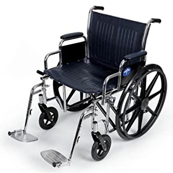 Medline Extra Wide Wheelchair, 500 lb Weight Capacity