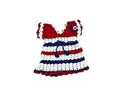 Mayra Knits Baby Girl Wool Lily Dress _MKGD15_Multicolour_1 to 2 years