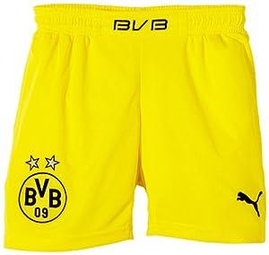 PUMA Kinder BVB Kids Home Replica Shorts, Blazing Yellow/Black, 152, 743567 02