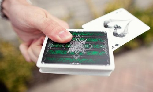 Green Artifice Playing Cards