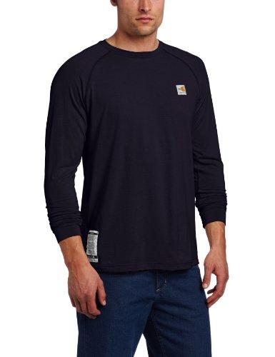 Carhartt Men'S Big-Tall Flame Resistant Force Long Sleeve T-Shirt, Dark Navy, Xx-Large/Tall front-386297