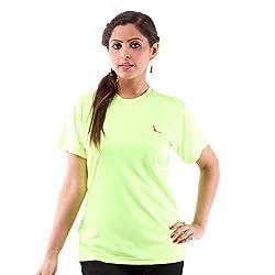 Miauw Women's T Shirt (BCA-207 _Light Green_Small)