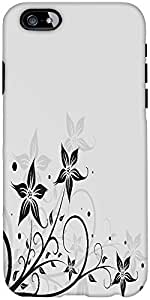 Snoogg seamless floral pattern abstract background Hard Back Case Cover Shield For Apple Iphone 6 S + / 6s Plus