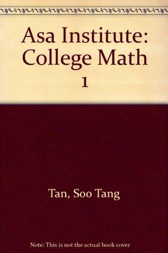Asa Institute: College Math 1