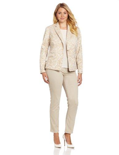 Anne Klein женщин's Leopard Жаккардовые куртка, дуб/Камелия Multi, 16W