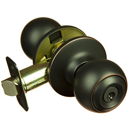 Piedmont Oil Rubbed Bronze Keyed Entry Door Knob (Bulk Interior Door Knobs compare prices)