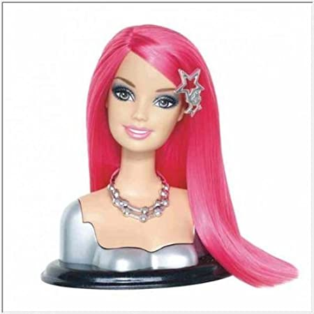 Barbie Fashionistas Swappin' Styles Head Pink Hair by Mattel